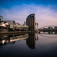 Buy canvas prints of Salford Quays by Daniel Udale