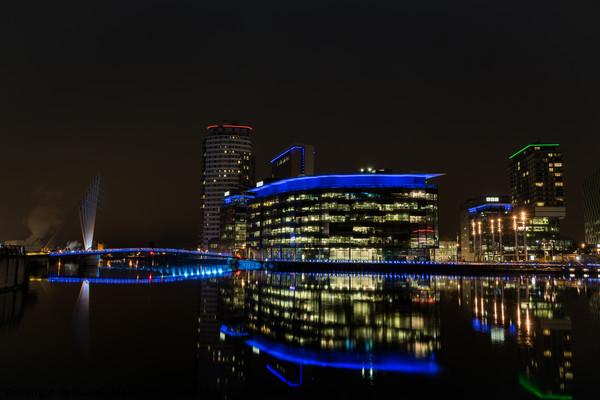Media City by night Canvas Print by Daniel Udale