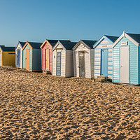 Buy canvas prints of Beach Huts Southwold by Ann Mitchell