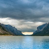 Buy canvas prints of Devils Gap Lake Minnewanka by Ann Mitchell