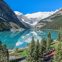 Buy canvas prints of Lake Louise Banff by Ann Mitchell