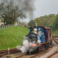 Buy canvas prints of Bluebell Steam Engine by Ann Mitchell
