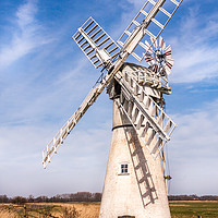 Buy canvas prints of Thurne Mill Norfolk by Ann Mitchell