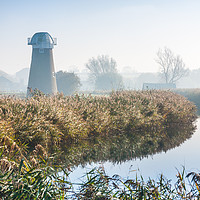Buy canvas prints of West Somerton Mill Norfolk by Ann Mitchell