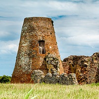 Buy canvas prints of St Benet's Abbey Norfolk Broads by Ann Mitchell
