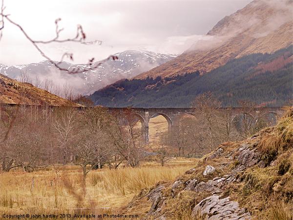 West Highland Railway Viaduct Glenfinnan Argyll  Canvas print by john hartley