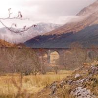 Buy canvas prints of   West Highland Railway Viaduct Glenfinnan Argyll  by john hartley
