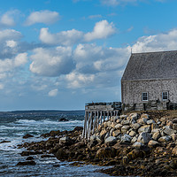 Buy canvas prints of Seaside Shanty - Peggys Cove Road by Roxane Bay
