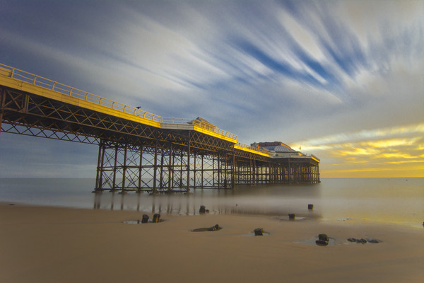 Cromer pier at Golden hour Canvas print by Mark Hawkes