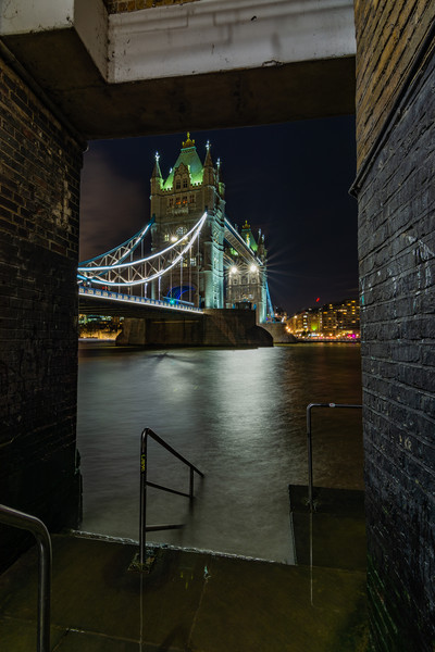 Tower Bridge London at Night Canvas print by Mark Hawkes