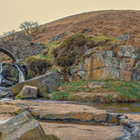 Buy canvas prints of Three Shires Head by Mike Roberts