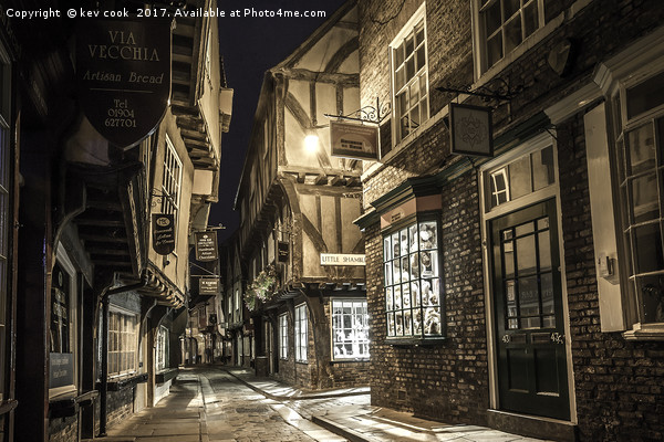 Moonlight on the shambles Canvas print by kev cook