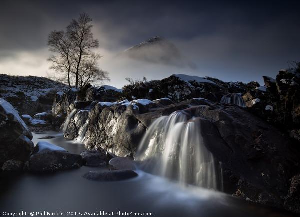 Buachaille  Waterfall Glencoe Canvas print by Phil Buckle