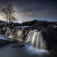 Buy canvas prints of Buachaille  Waterfall Glencoe by Phil Buckle