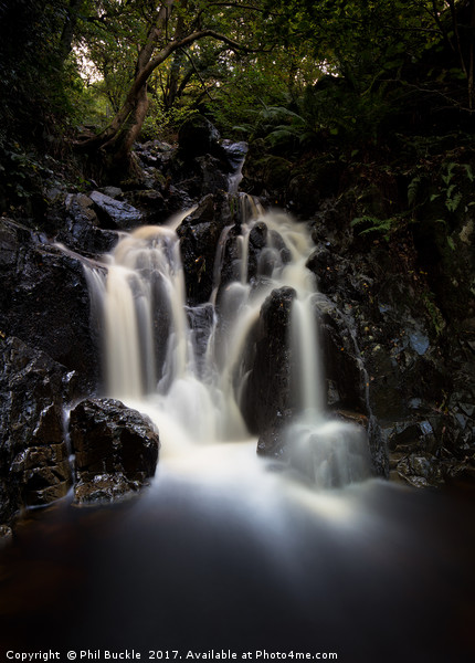 Cat Gill Waterfall Canvas print by Phil Buckle
