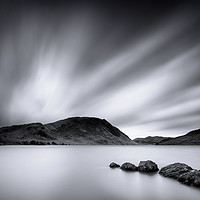 Buy canvas prints of Crummock Water Black and White by Phil Buckle