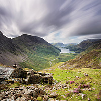 Buy canvas prints of Warnscale Bothy Long Exposure by Phil Buckle