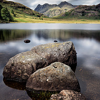 Buy canvas prints of Blea Tarn to the Pikes by Phil Buckle