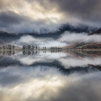 Buy canvas prints of Buttermere Rising Fog by Phil Buckle