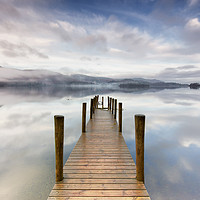 Buy canvas prints of Ashness Jetty Calm and Mist by Phil Buckle