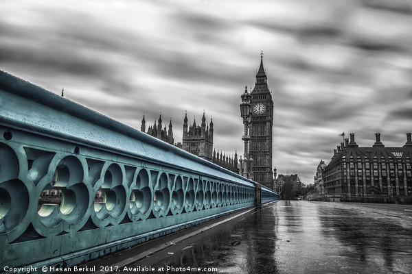 Westminster Bridge  Canvas Print by Hasan Berkul