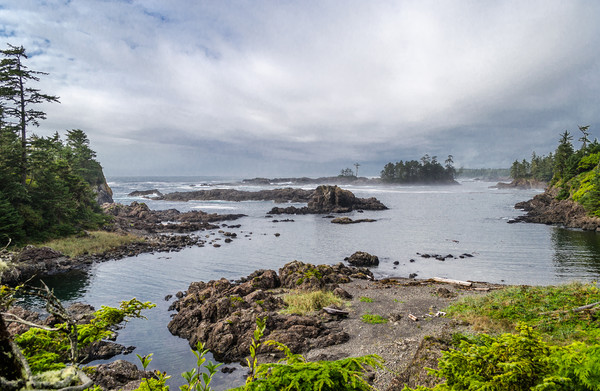 Rugged Pacific Coast at Ucluelet Framed Print by Alf Damp