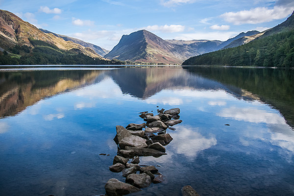 Buttermere and Fleetwith Pike Canvas Print by Alf Damp