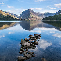 Buy canvas prints of Buttermere and Fleetwith Pike by Alf Damp