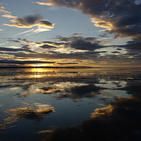Buy canvas prints of Sunset at Lindisfarne, Holy Island by alan Barnes