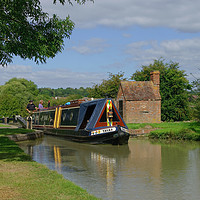 Buy canvas prints of Oxford Canal at Napton by alan Barnes