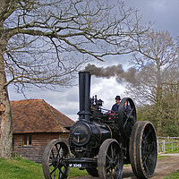 Buy canvas prints of Fowler Traction Engine by alan Barnes