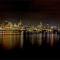 Buy canvas prints of South Bank Panorama by Malcolm Smith