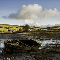 Buy canvas prints of Old Boat On Skye by Graham Binns