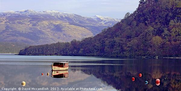 Loch Lomond Still Air                              Framed Print by David Mccandlish