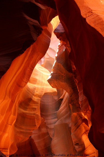 A Canyon Sculptured By Water - The Antelope Canyon Canvas print by Christiane Schulze