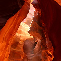 Buy canvas prints of A Canyon Sculptured By Water - The Antelope Canyon by Christiane Schulze