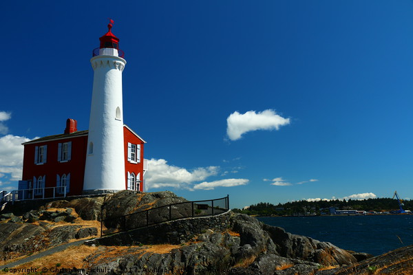 Fisgard Lighthouse  Canvas print by Christiane Schulze