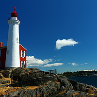 Buy canvas prints of Fisgard Lighthouse  by Christiane Schulze