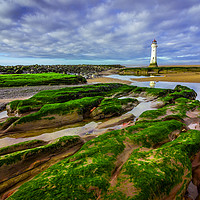 Buy canvas prints of New Brighton Lighthouse by Andrew George
