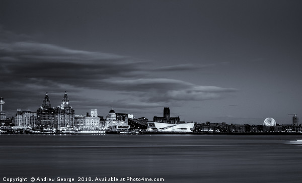 Liverpool Cityscape Canvas print by Andrew George