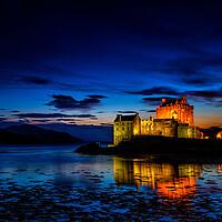 Buy canvas prints of Eilean Donan Castle by John Frid