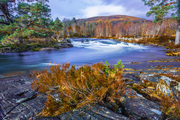 River Affric in the Scottish Highlands Acrylic by John Frid