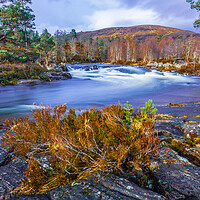 Buy canvas prints of River Affric in the Scottish Highlands by John Frid