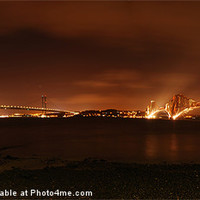 Buy canvas prints of Night double cross by Gordon Sime