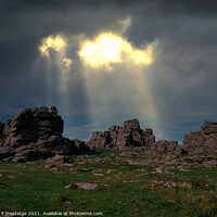 Buy canvas prints of Storm at Hound Tor, Dartmoor, Devon by Paul F Prestidge