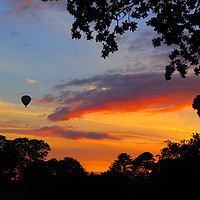 Buy canvas prints of Hot Air Balloon over Silverton by Paul Prestidge