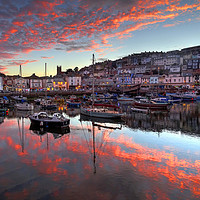 Buy canvas prints of Brixham Harbour Sunset in August                   by Paul Prestidge