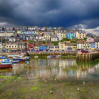 Buy canvas prints of Brixham Inner Harbour by Paul Prestidge