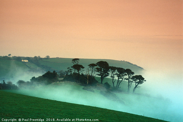 Early Morniing Mist at Mansands Canvas print by Paul Prestidge
