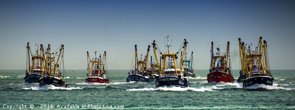 Trawlers Racing to the Finish Canvas print by